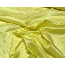 SILK HABOTAI 11 MOMME  LIGHT LEMON YELLOW COLOR 44''WIDE  BY THE YARD