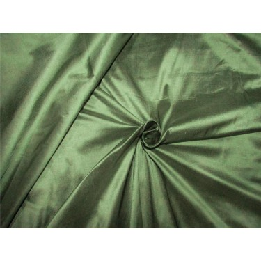 """100% pure silk dupioni fabric dusty green color 54"""" DUP#264"""