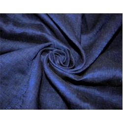 Pure linen fabric navy blue color 112''wide