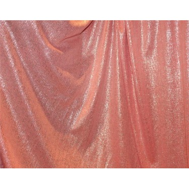 Lycra shimmer lurex silver fabric 58''wide peachy pink color FF#15B[3]