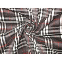 Silk Dupioni fabric BLACK PLAIDS DUPC41