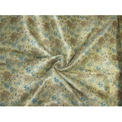 "Brocade fabric Gold x blue color 60"" Bro638[3]"