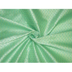 "Brocade fabric silver /green/gold color 60"" Bro638[2]"