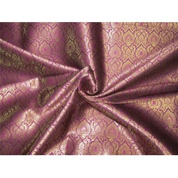 "Brocade fabric purple x metallic gold color 44""wide Bro640[2]"