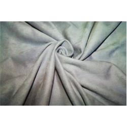 "Scuba Suede Knit fabric 59"" wide- fashion wear CLOUDY GREY color"
