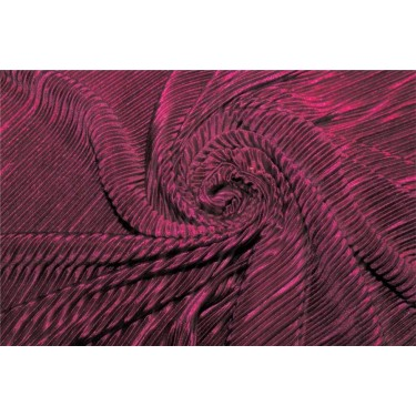Crushed polyester satin fabric Aubergine color 59''wide FF10B[3]​