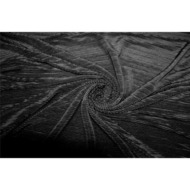 Crushed polyester satin fabric black color 59''wide FF10B[2]