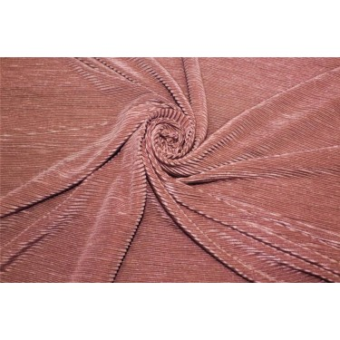 Crushed polyester satin fabric DUSTY ROSE color 59''wide FF10A[3]