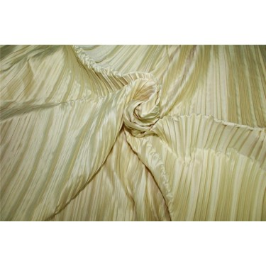 Satin pleated fabric Champagne color 58''WIDE FF9[2]