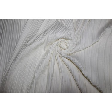 Satin pleated fabric IVORY color 58''WIDE FF9[3]