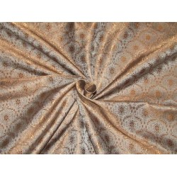 Brocade Fabric dark brown x grey color  44'' WIDE BRO559[2]