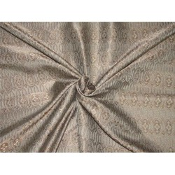 Brocade Fabric silver grey x brown color  44'' WIDE BRO559[3]