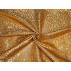 Heavy Brocade fabric turmeric yellow  x metallic gold color 36''wide BRO645[3]