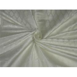 "Silk Brocade fabric white color 44"" Bro642[1]"
