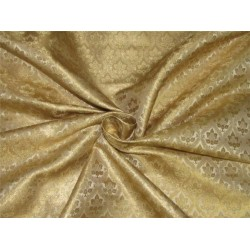 "Brocade fabric gold x metallic gold color 44""wide BRO643[5]"