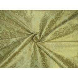 Heavy Brocade fabric light gold x metallic gold color 44''wide BRO645[1]