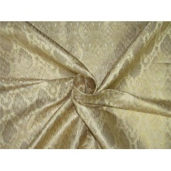 "Brocade fabric champagne x metallic gold color 44""wide BRO643[1]"
