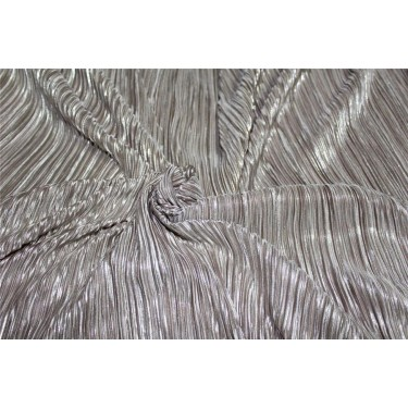 Pleated lurex Fabric nude color58 Wide FF1[3]