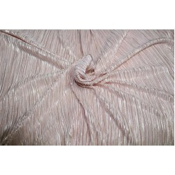 Pleated lurex Fabric light pink color 58'' Wide FF1[2]