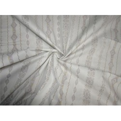 100% Cotton Rubber print fabric ivory color 36'' wide
