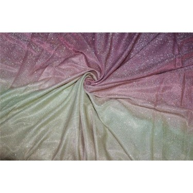 Ombre shimmer fabric lycra shaded purple pink and gold color 58''WIDE FF7[4]