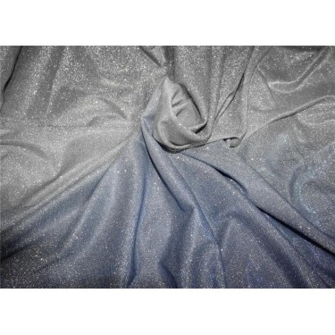 Ombre shimmer fabric lycra shaded blue and silver color 58''WIDE FF7[3]