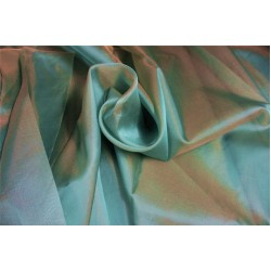 Silk Organza fabric Blue x beige color 54'' pkt #28[3]