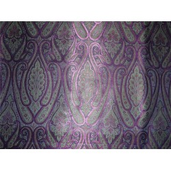 "Brocade green purple and metalic copper Color 44""BRO550[2]"