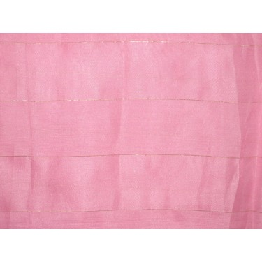 Baby Pink with Gold Stripes Nina Silk fabric