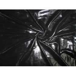 """silver black foil printed polyester georgette semi sheer fabric 44"""""""