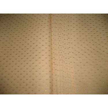 Cotton organdy floral printed fabric LIGHT Peach Color