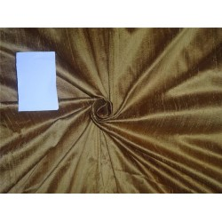 "100% PURE SILK DUPIONI FABRIC gold with green shot 54"" mm79[4]"