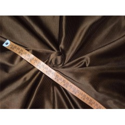 100% SILK TAFFETA FABRIC PIN STRIPE 54''- brown   TAF#S140[3]