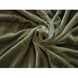 """100% cotton Velvet fabric 44""""~dark forest green  sold by the yard"""