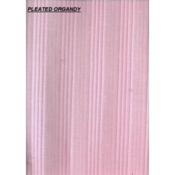 """PINK 100% cotton organdy fabric 44""""-space pleated"""