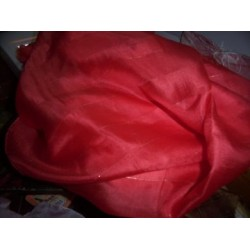 """Silk fabric[Chilli red colour] 42"""" wide sold by the yard"""