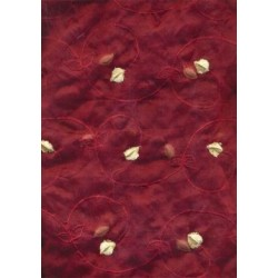 silk organza fabric-4 new colours + velvet embroidery