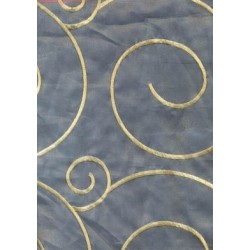 polyester tissue sheer embroidered fabric