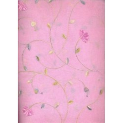 cotton organdy embroidery~pink  colour