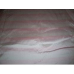 100% silk dupion 2.70 yards  continuous length has 3 shades of  pale pink stripes DUPS23[1]