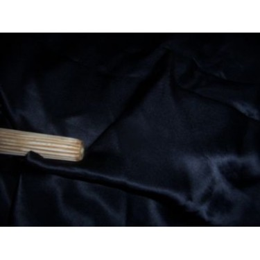 """100% pure Silk black Satin fabric 44"""" wide sold by the yard"""