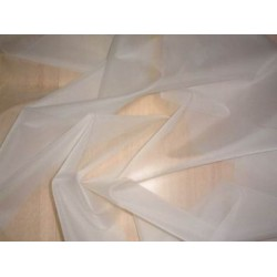 "White silk organza fabric 54"" wide sold by the yard"