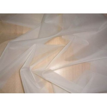 """natural{off white}silk organza fabric 44"""" wide* sold by the yard"""