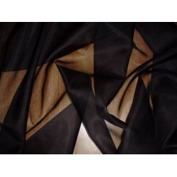 Black silk organza fabric 44""
