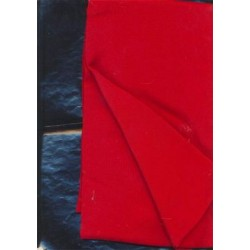 "Pure Silk crepe fabric 44""-red"