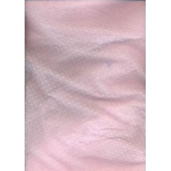 cotton organdy Flock printed ~small dots-pink colour