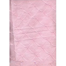 cotton organdy with chocolate pintucked