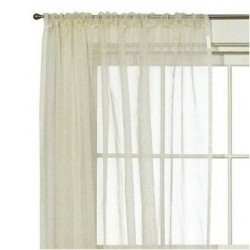 "100 % Silk Organza Window Panel {52"" x 84""}"