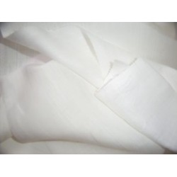 """100 % pure linen fabric 58"""" wide white fabric with self white stripes"""
