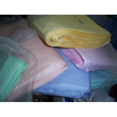 """100% cotton organdy fabric 44""""pastel colours sold by the yard"""